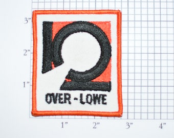 Over Lowe Vintage Sew-on Embroidered Clothing Patch for Uniform Shirt Jacket Vest Emblem Logo Insignia Construction Heavy Machinery