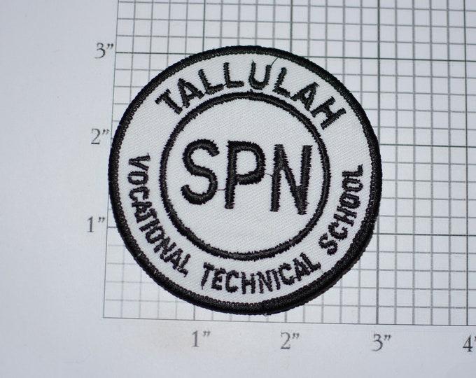 Tallulah (Louisiana LA) Vocational Technical School SPN Iron-On Vintage Embroidered Patch Emblem for Alumni Jacket Vest Shirt Collectible