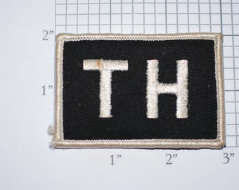 TH Iron-on Vintage Embroidered Clothing Patch for Uniform Workshirt Jacket Work Shirt Hat Clothes Emblem Worker Logo Insignia