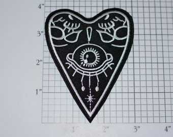 Spirit Talking Board Planchette Iron-on Embroidered Clothing Patch Afterlife Ghosts Mystic Occult Strange Wicca Spooky Paranormal Psychic