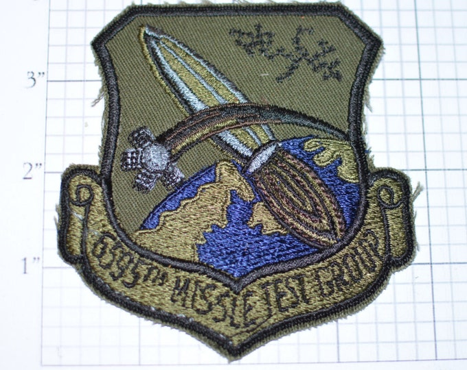 USAF 6595th Missile Test Group - RARE Sew-On Vintage Patch - Inactive Unit Since 1979 -  e16