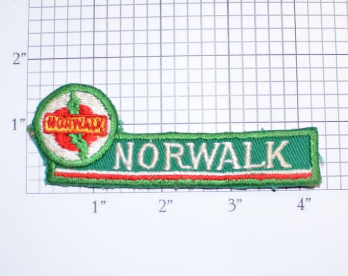 Norwalk Vintage Sew-on Embroidered Clothing Patch Travel Trip Souvenir Memorabilia for Jeans Jacket Backpack Unique Gift Idea Scrapbook Logo