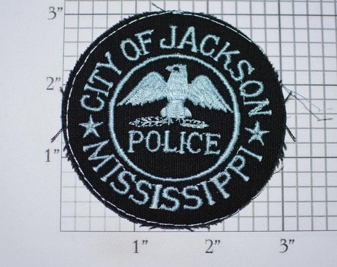 City of Jackson Mississippi Police Iron-on Embroidered Vintage Clothing Patch (No Border) MS Officer Uniform Shoulder Collectible Emblem