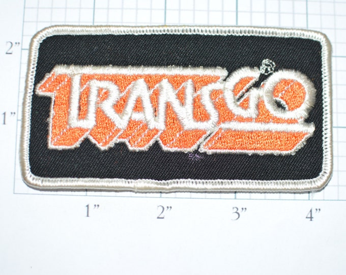 TRANSGO Rare Vintage Sew-On Patch Shift Kits Transmission Parts Embroidered Shirt Jacket Uniform Patch Mechanic Garage Car Guy Auto s14