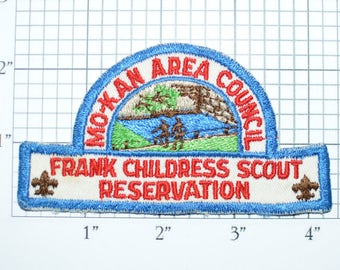 MO KAN Area Council 1950s Frank Childress Reservation Boy Scouts Patch BSA Patch Scouting Vintage Sew-On Embroidered Uniform Patch e20q