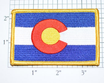 Colorado State Flag CO Iron-On Embroidered Clothing Patch Emblem Badge Travel Trip Souvenir Gift Idea Collectible Vacation Keepsake Woven