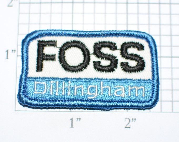 Foss Dillingham Vintage Embroidered Sew-on Clothing Patch for Uniform Jacket Work Shirt Vest Emblem Logo Insignia Company Memorabilia s4