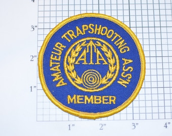 Amateur Trapshooting Ass'n (Association) Member Rare Sew-on Vintage Embroidered Clothing Patch Shooter Sportsman Jacket Vest Collectible