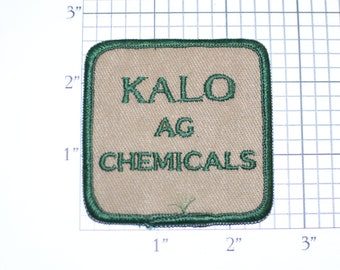 KALO AG Chemicals Vintage Embroidered Iron-on Clothing Patch for Uniform Jacket Work Shirt Company Emblem Logo Insignia Crop Agriculture