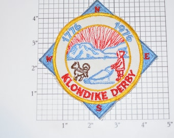 1776 1976 Klondike Derby Bicentennial Celebration Scouting USA Vintage Sew-on Embroidered Clothing Patch Boy Cub Scout Uniform BSA Logo