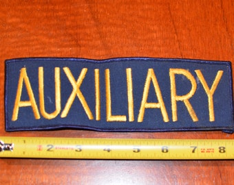 Auxiliary (Dirty & Out of Square) Vintage Iron-On Patch for Jacket Vest Shirt Clothing Emblem