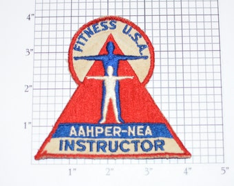 Fitness USA AAHPER-NEA Instructor (American Association for Health, Physical Education and Recreation) Vintage Embroidered Clothing Patch