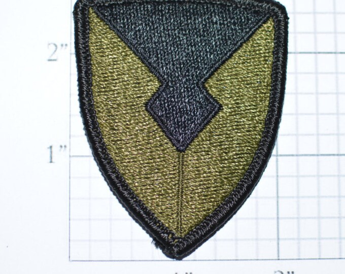 Army Materiel Command, Subdued Iron-On Vintage Embroidered Patch, Military Uniform Shoulder Sleeve Insignia (SSI) BDU ACU Shield Soldier bb2