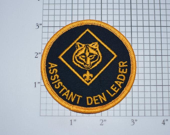 Assistant Den Leader BSA Vintage Iron-on Embroidered Clothing Patch Uniform Shirt Jacket Vest Badge Memorabilia Keepsake Memento Scrapbook