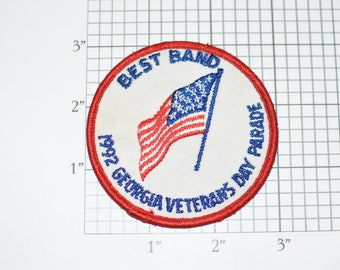 Best Band 1992 Georgia Veterans Day Parade Embroidered Clothing Patch for Jacket Shirt Vest Backpack Jeans Collectible Souvenir Award Music
