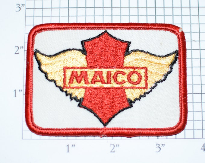 MAICO Rare Vintage Sew-On Embroidered Clothing Patch for Motorcycle Biker Racing Team Uniform Jacket Shirt Hat Vest Collectible Moto Rider