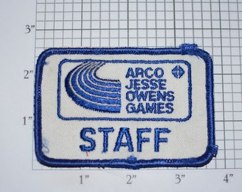 ARCO Jesse Owens Games Staff Track & Field Vintage Embroidered Clothing Patch Sports Collectible Emblem Athletics Runner (Only 1 Available)