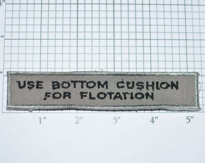 Use Bottom Cushion for Flotation Sew-On Vintage Embroidered Patch Airplane Boating Funny Sassy Butt Bum Rump Jeans or Panties Applique