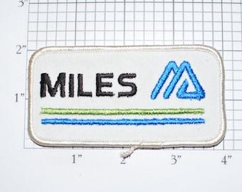 MILES Embroidered Sew-on Clothing Patch Emblem for Uniform Workshirt Jacket Employee Name Woven Work Shirt Triangular Geometric Logo