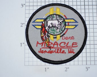 Miracle Sacred White Buffalo Janesville, Wisconsin Vintage Iron-on Embroidered Clothing Patch Native American Tribe Spirituality Beliefs