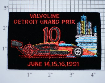 Valvoline Detroit Grand Prix MINT 1991 Vintage Embroidered Patch (Licensed by National Emblem) CART Racing Event Souvenir Renaissance Center