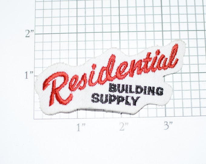 Residential Building Supply Iron-On Vintage Embroidered Clothing Patch Employee Uniform Shirt Jacket Emblem Workshirt Logo Superintendent