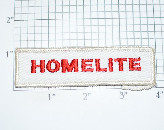 HOMELITE Embroidered Sew-on Clothing Patch Emblem for Uniform Workshirt Jacket Employee Name Woven Work Shirt Logo Employee Contractor e33r
