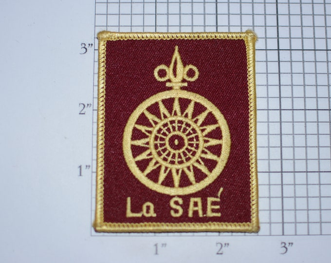La SAE Iron-on Vintage Embroidered Clothing Patch Emblem (Unknown Origin) DIY Clothes Fashion Accent Logo Crest