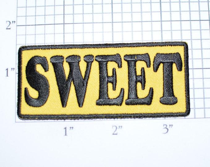 SWEET Iron-On Embroidered Clothing Patch for Shirt Jacket Vest Hat Backpack Jeans Purse Nickname Novelty Emblem DIY Clothes Craft Biker t02b