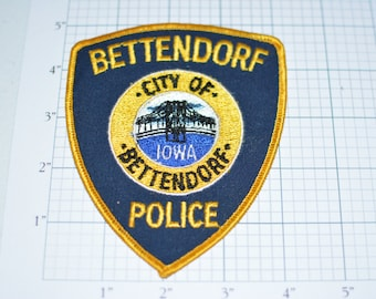 City of Bettendorf Iowa IA Police Sew-On Vintage Embroidered Clothing Patch Law Enforcement Jacket Uniform Vest Shoulder Insignia Emblem