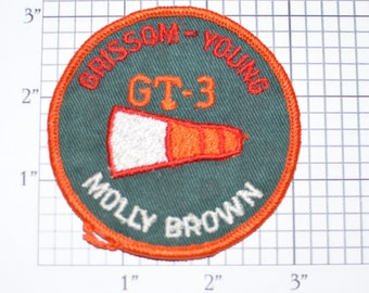 Gemini GT-3 Grisson Young Molly Brown Vintage Embroidered Clothing Patch NASA Space Mission Aerospace Collectible Memorabilia Astronaut Gift