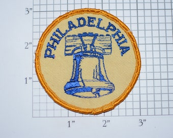 Philadelphia Liberty Bell RARE 1960s Sew-on Embroidered Vintage Clothing Patch Americana Collectible Souvenir USA Independence Cracked