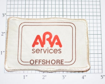 ARA Services Offshore Oil & Gas (Dirty and/or Distressed) Vintage Sew-on Embroidered Clothing Patch for Uniform Shirt Jacket Vest Emblem