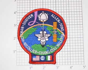 STS-46 Space Shuttle Atlantis Iron-on Embroidered Astronaut 1992 Mission Patch Collectible NASA Emblem Memorabilia Aerospace Engineering
