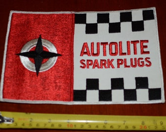 Autolite Spark Plugs Large (9 Inch Wide) Embroidered Sew-On Clothing Back Patch for Mechanic Jacket Vest Shirt Collectible Garage Emblem