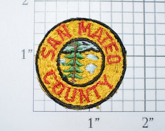 San Mateo County California Iron-On Small Vintage Clothing Applique Patch CA San Jose Palo Alto Santa Clara Sewing Craft Project USA Crest