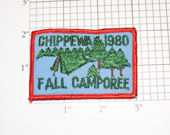 Chippewa 1980 Fall Camporee BSA Sew-On Vintage Embroidered Clothing Patch Uniform Shirt Jacket Boy Cub Scout Scouting Keepsake Insignia Logo