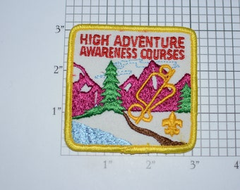 High Adventure Awareness Courses BSA Vintage Embroidered Uniform Patch Cub Boy Scout Memento Award Emblem Badge Collectible Keepsake Logo