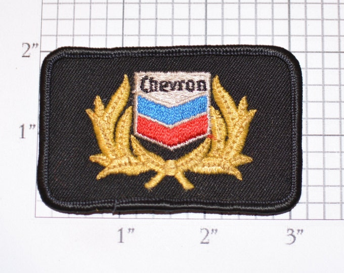 Chevron Sew-On Embroidered Vintage Clothing Patch Rare Oil Gas Service Station For Uniform Jacket Vest Shirt Hat Garage Keepsake Memento
