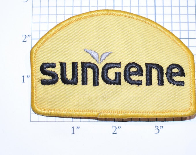 SunGene Embroidered Iron-on Clothing Patch (Slightly Dingy) Plant Science Company Logo Uniform Workshirt Emblem Agriculture Farming Crops