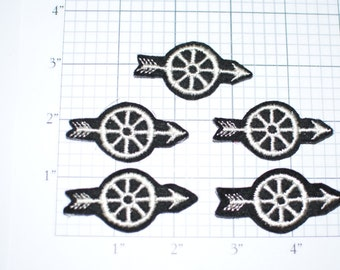 Lot of 5 Motorcycle Police Wheel Sew-On Vintage Appliqué Patches
