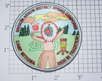 Broken Arrow District Spring Camporee Camp Mitigwa Rich in Tradition 869 (2010 We Believe) Patch BSA Collectible Emblem Memorabilia
