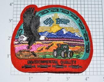 BHP Environmental Quality Iron-on Vintage Embroidered Clothing Patch Billiton Australia Mining Company Logo Emblem for Jacket Shirt Bag s9