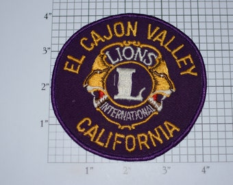 El Cajon Valley California LIONS Club International LCI Embroidered Vintage Clothing Patch for Jacket Shirt Hat Jeans Vest Collectible Logo