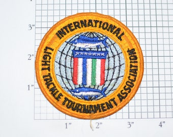 International Light Tackle Tournament Association Iron-On Vintage Embroidered Clothing Patch for Jacket Shirt Hat Fishing Professional Crest