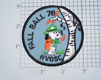 Fall Ball 78 (1978) HVGSC (Huron Valley Girl Scout Council, Michigan ) Vintage Embroidered Clothing Patch Emblem Insignia Collectible Badge