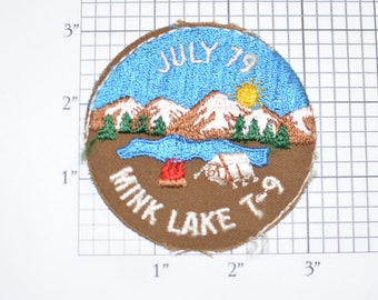 Mink Lake T-9 July 79 (No Border, As-is) Embroidered Vintage Sew-on Patch Boy Scouts BSA Collectible Camping Event