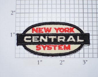 New York Central System Vintage Sew-on Embroidered Patch Train Railroad Patch Clothing Patch NYCS Collectible Memorabilia Shirt Patch