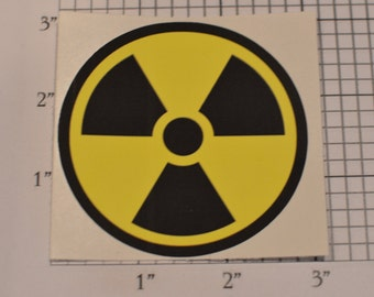 Ionizing Radiation Symbol (Trefoil) 3 Inch Diameter Vinyl Decal Sticker (Weatherproof) Vehicle Laptop Wall & More Nuclear Power Plant Atomic