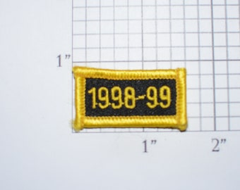 1998-99 (1999) Small Sew-On Vintage Embroidered Clothing Patch Rocker Tab Jacket Vest Shirt Uniform  Milestone Anniversary Birthday Year